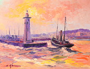 Drifter Painting Posters - The Anstruther Harbour Poster by Luke Karcz