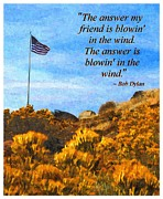 Veteran Photography Posters - The Answer Is Blowing in the Wind Poster by Glenn McCarthy Art and Photography