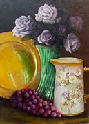 Still Life With Old Pitcher Painting Posters - The Antique Pitcher Poster by Marlene Book