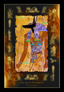 Religious Prints Mixed Media - The Anubis Parchment by Skye Ryan-Evans