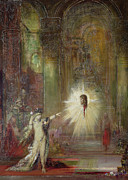 Gothic Poster Posters - The Apparition Poster by Gustave Moreau