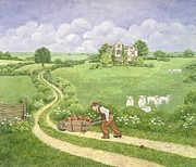 House Work Prints - The Apple Barrow Print by Ditz