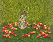 Tabby Paintings - The Apple Mouse by Ditz