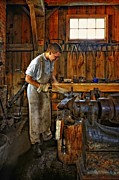 Blacksmith Prints - The Apprentice HDR Print by Steve Harrington