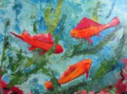 Colours Paintings - The aquarium by Mario  Perez