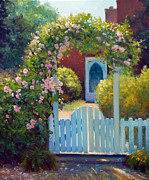 Arbor Paintings - The Arbor Gate by Armand Cabrera