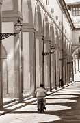 Florence Prints - The Arcade at at The Arno River Embankment Florence Print by Tom Wurl