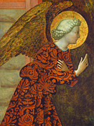 Christian Framed Prints - The Archangel Gabriel Framed Print by Tommaso Masolino da Panicale