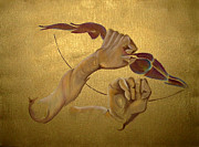 Zodiac Paintings - The archer by Sanne Rosenmay