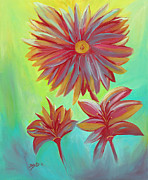 Organic Paintings - The Arrangement by Donna Blackhall