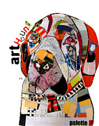 Mixed Media Collages Prints - The Art Hound Print by Brian Buckley