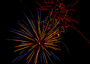 July 4th Framed Prints - The Art of Fireworks  Framed Print by Saija  Lehtonen