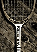 Tennis Racket Framed Prints - The Art of Tennis 2 Framed Print by Benjamin Yeager