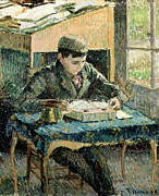 Victorian Portrait Posters - The Artists Son Poster by Camille Pissarro