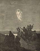 Bible Drawings Metal Prints - The Ascension Metal Print by Antique Engravings