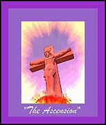 Devotional Art Photo Posters - The Ascension of Christ Poster by John Malone