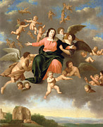 The Heavens Paintings - The Ascension of the Virgin by Daniel Vertangen