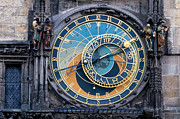 Astronomical Clock Photo Framed Prints - The Astronomical Clock in Prague Framed Print by Michal Bednarek