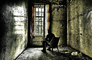 Spooky Acrylic Prints - The Asylum Project - A Room with a View Acrylic Print by Erik Brede
