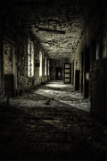 Wood Interior Framed Prints - The Asylum Project - Corridor of Terror Framed Print by Erik Brede
