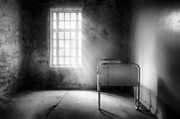 Window Cover Framed Prints - The Asylum Project - Empty Bed Framed Print by Erik Brede