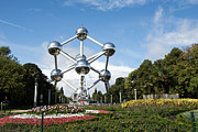 Brussels Posters - The Atomium Poster by Juli Scalzi