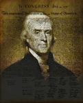 Declaration Of Independence Digital Art Prints - The Author of America Print by Bill Cannon