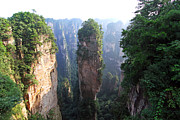 Cliff Framed Prints - The Avatar Cliff in Zhangjiajie China  Framed Print by Lars Ruecker