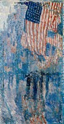 Old Glory Paintings - The Avenue in the Rain by Nomad Art And  Design