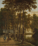 Famous Artists - The Avenue of Birches by Jan Hackaert
