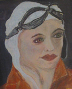 Courage Pastels Framed Prints - The Aviator Framed Print by Dawn Richerson