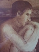 Swimmer Drawings - The Awakening by Bonita Bruch