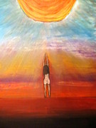 Prayer Pastels Prints - The Awakening Print by Daniel Dubinsky