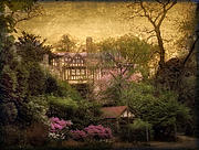 Mansion Digital Art - The Azalea Garden by Jessica Jenney