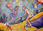 Basketball Paintings - The B-Ball Game by Jason Gluskin