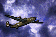 Ww Ii Framed Prints - The B24 Diamond Lil  Framed Print by F Leblanc