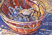 Blue Crab Paintings - The Bad Boys by Alice Grimsley