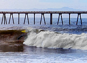 Surf The Rincon Metal Prints - The Bail Out Metal Print by Ron Regalado