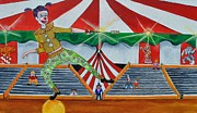 Asbury Park Funhouse Painting Originals - The Balancing Act by Patricia Arroyo