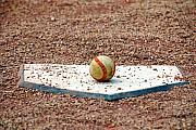 Baseball Field Art - THE ball of Field of Dreams by Susanne Van Hulst