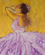 Soft Pastels Pastels Framed Prints - The Ballet Dancer Framed Print by David Patterson