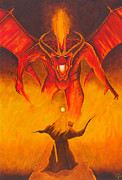 The Lord Of The Ring Painting Framed Prints - The Balrog Framed Print by Gordon Palmer