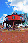 Lighthouse Digital Art - The Baltimore Inner Harbor Lighthouse by Bill Cannon