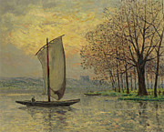 Famous Artists - The Bank of the Loire by Maxime Maufra