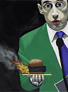 Suit And Tie Posters - The Banlieu Burger Poster by Marcella Lassen