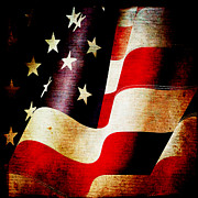 Patriotism Mixed Media - The Banner Yet Waves by Angelina Vick