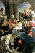 Banquet Prints - The Banquet in the House of Simon Print by Tintoretto