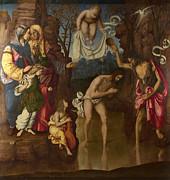 Famous Artists - The Baptism of Christ by Francesco da Cotignola