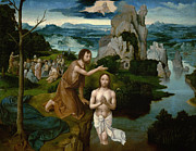 Famous Artists - The Baptism of Christ by Joachim Patinir