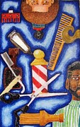 Afro Pastels Framed Prints - The Barber Framed Print by Bill De Barber